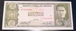 BOLIVIA  - 10 PESOS BOLIVIANOS - FIOR DI STAMPA - CARTAMONETA - PAPER MONEY - Bolivia