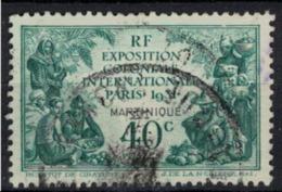 MARTINIQUE         N°  YVERT   129            OBLITERE       ( O   2/33 ) - Martinique (1886-1947)