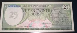 SURINAME  - 25 GULDEN - FIOR DI STAMPA - CARTAMONETA - PAPER MONEY - Surinam