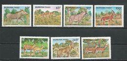 BURKINA FASO  Scott 784A-784F Yvert 710-716  (7) ** Cote 16,50$ 1986 - Burkina Faso (1984-...)