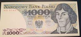 POLONIA - 1000  ZLOTI - ZLOTYCH - FIOR DI STAMPA - CARTAMONETA - PAPER MONEY - Poland