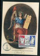 Etats-Unis - Carte Maximum 1989 - Révolution Française - Maximumkarten (MC)