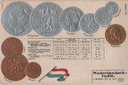 Litho Münzkarte AK Nederlandsch Indie Niederländisch Indien Ostindien Hindia Belanda Indonesien Indonesia Colony Kolonie - Indonesië