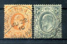 1909-10 GRAN BRETAGNA SET USATO - 1902-1951 (Re)