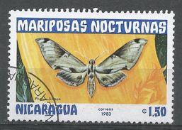 Nicaragua 1983. Scott #1234 (U) Pholus Licaon, Butterfly, Papillon - Nicaragua
