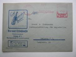 1940  ,  LEIPZIG   , Glasklarer Firmen - Freistempel  Auf   Brief - Deutschland