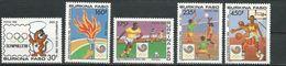 BURKINA FASO  Scott 836-840 Yvert 770-774  (6) ** Cote 13,00$ 1988 - Burkina Faso (1984-...)
