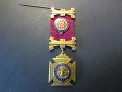 Médaille - Franc- Maçonnerie - 1 St Deg 4 / 2Nd Deg  - Royal Lodge Antediluvian Mortalium   - 1942 - 1947 - TBE - Massoneria