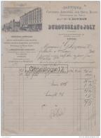 69 5583 LYON RHONE 1908 Fabrique Couverts Argentes Metal Blanc DUROUSSEAU  JOLY Succ C. BOYRON Rue Republique ORFEVRERIE - France