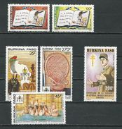 BURKINA FASO  Scott 894-895, 900-902, 903 Yvert 820-821, 826-828, 829  (6) ** Cote 7,70$ 1990 - Burkina Faso (1984-...)