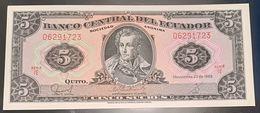 ECUADOR - 5 SUCRES - FIOR DI STAMPA - CARTAMONETA - PAPER MONEY - Ecuador