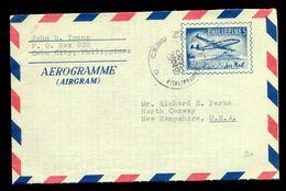 AEROGRAMME STATIONERY PHILIPPINES USED IN 1963 - Filippijnen