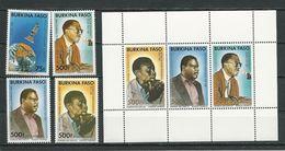 BURKINA FASO  Scott 868-871, 872 Yvert 801, PA325-PA327, BF36  (4+bloc) ** Cote 51,00$ 1989 - Burkina Faso (1984-...)