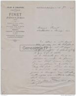 38 2414 SAINT ETIENNE DE SAINT GEOIRS ISERE 1908 Ferblanterie FINET Zinguerie A SERVONNET - 1900 – 1949