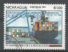 Nicaragua 1983. Scott #1261 (U) Port Of Corinto - Nicaragua