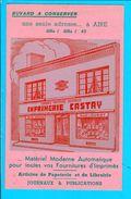 Buvard 20,5 X 13,5 Cm Imprimerie Castay Aire Sur Adour - Blotters