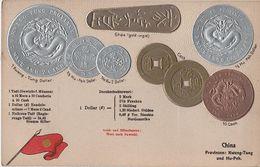Litho Münzkarte AK China Chine Provinz Kwang Tung Kwangtung Guangdong Kanton Hu Peh Hupeh Hubei Asia Asie Coin Pièce - Cina
