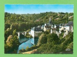 CPSM  FRANCE  23  ~  LA CELLE DUNOISE  ~  5104  Le Bourg, Le Pont Sur La Creuse  ( Roussel Dentellée 50/60 )  2 Scans - Autres Communes