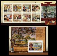 GUINEA 2009 - PA Renoir - YT 4290-7 + BF1022; CV = 30 € - Kunst