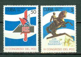 Cuba 1991  Yv 3153A/3153B** Mi 3516/3517**  MNH - Cuba