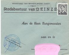 Omslag Enveloppe - Stad Deinze - Stempel 1963 - Entiers Postaux