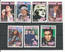 BURKINA FASO  Scott 1055-1061A Yvert 944-949  (7) ** Cote 17,50$ 1995 - Burkina Faso (1984-...)