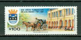 Chile 1991  Sc 966**, Yv 1049** Mi 1443**  Santa Rosa De Los Andes 200 Year  MNH - Chili
