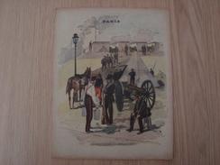 COUVERTURE DE CAHIER PARIS LA GARDE NATIONALE AUX REMPARTS - Book Covers