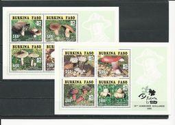 BURKINA FASO  Scott 1041a, 1042a Yvert BF ? (952-959 En Bloc)  (2blocs) ** Cote 25$ 1995 - Burkina Faso (1984-...)