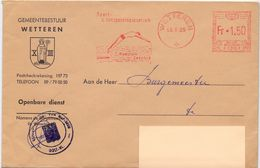 Omslag Enveloppe - Gemeente Wetteren - Stempel 1965 - Entiers Postaux