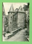 CPSM  FRANCE  24  ~  SARLAT  ~  Hôtel Malville  ( Combier Dentellée 50/60)  2 Scans - Sarlat La Caneda