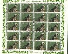 Luxembourg Feuille De 20 Timbres à 1+0,25 Euro  Vautour, Habicht, Hawk Timbre De Bienfaisance 2003 - Full Sheets