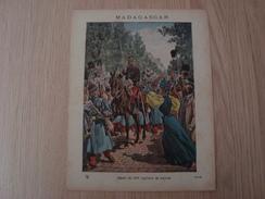 COUVERTURE DE CAHIER MADAGASCAR DEPART DU 200e REGIMENT DE MARCHE - Book Covers