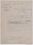 69 5584 LYON RHONE 1908 Fabrique Couverts Argentes Metal Blanc DUROUSSEAU  JOLY Succ C. BOYRON Rue Republique ORFEVRERIE - France