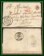 LSC Fismes (49) Type 14 De 1840 + ID + Boite P + T2 > Laon (ind 5) - Marcophilie (Lettres)