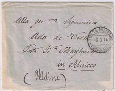 Busta - Presidio Militare Di Cirene ( Annullo Raro) Viaggiata 1914 - 1900-44 Vittorio Emanuele III