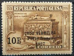Portugal 1927 MH Luis De Camoes Overprint CRUZ VERMELHA PORTE FRANCO 1927 - 1910-... Republic