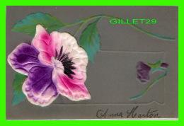FLEURS - FLOWER - PENSÉE EN FEUTRE - ÉCRITE - - Fleurs
