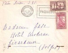 LETTRE ALGERIE 1937 CACHET PAQUEBOT - Algerije (1924-1962)