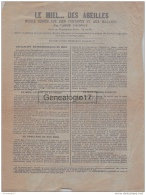 54 763 VILLERS SOUS PRENY MEURTHE MOSELLE 19.. Publicite Notice Sur LE MIEL ... DES ABEILLES Par L ABBE VOIRNOT CurÂŽ - Advertising