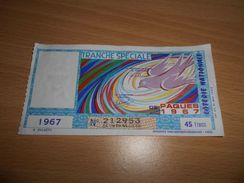 14 - Billet De Loterie Nationale, Tranche Spéciale De Pâques 1967 - Lottery Tickets