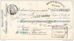 33 3547 BORDEAUX GIRONDE 1909  Ets MAURICE LAURENS Du BUREAU DE ROUSSELLE - Cheques & Traveler's Cheques