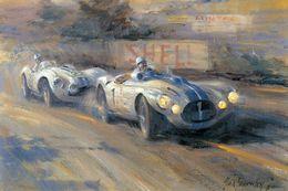 57.20 Postcard Modern Rare New Alan Fearnley Retro Car Auto Racing - Voitures De Tourisme