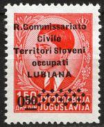 LUBIANA 1941 Ljubljana Slovenia Italy Yugoslavia R. Commissariato Civile - Occupation 0.5 Din Sassone 39 King Peter - Lubiana