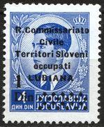 LUBIANA 1941 Ljubljana Slovenia Italy Yugoslavia R. Commissariato Civile - Occupation 1 Din Sassone 40 King Peter - Lubiana