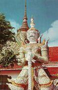 Thailandia (Thailand) Bangkok, Giant Guardians At The Temple Of Dawn - Tailandia