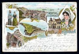 AK Helgoland 1897 Trachten, Neue Post, Treppe (O5818 - Sin Clasificación