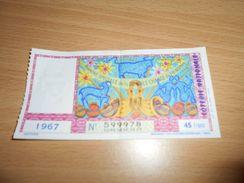 25 -  Billet De Loterie Nationale, Tranche Spéciale De La Double Chance De Printemps, 1967 - Lottery Tickets