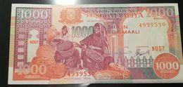 SOMALIA  - 1000 SHILLINGS - SHILIN SOOMAALI - FIOR DI STAMPA - CARTAMONETA - PAPER MONEY - Somalia