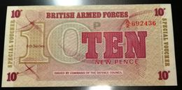 BRITISH ARMED FORCES - 10 NEW PENCE - 6TH SERIES - FIOR DI STAMPA - Altri